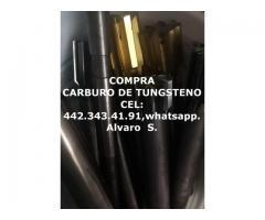 COMPRA CARBURO DE TUNGSTENO EN TODAS SUS PRESENTACIONES