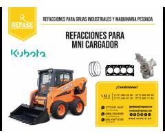 refacciones y partes  para miniexcavadores Kubota