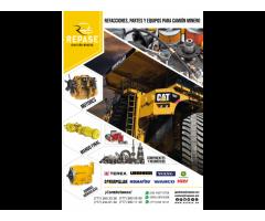 Componentes para motor y neumáticos para camión minero