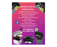 REPARACIÓN DE IMPRESORAS LÁSER O INYECCIÓN