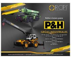 Partes para grúas industriales P&H