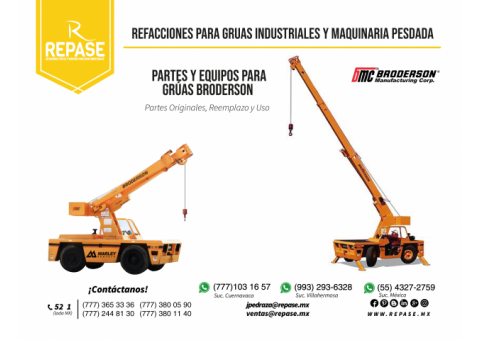 RECAMBIOS Y COMPONENTES PATA GRÚAS BRODERSON