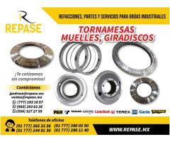 TORNAMESAS, MUELLES Y GIRADISCOS