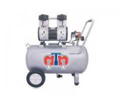 Compresor libre de aceite 1 hp tanque de 48 lts horizontal (uso dental)