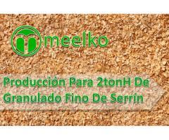 Producción Para 2tonH De Granulado Fino De Serrín MEELKO