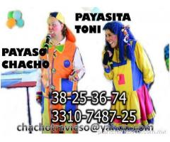 PAYASOS O COMEDIANTE EN GUADALAJARA CHACHO SHOW