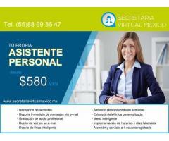 ASISTENTE PERSONAL desde $ 580 pesos mensuales