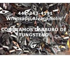 COMPRA DE PEDACERIA DE CARBURO DE TUNGSTENO EN CELAYA