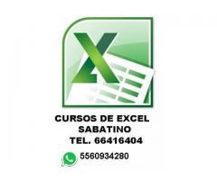 curso de Excel avanzado $150