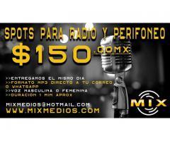 spots para radio y perfoneo www.mixmedios.com