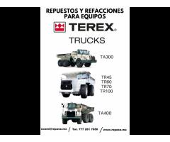 REPUESTOS Y REFACCIONES PARA EQUIPOS TRUCKS TEREX
