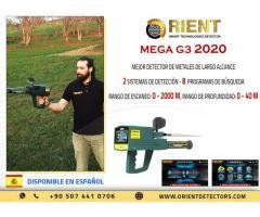 Detector de metales Gold Mega G3 con sistema de detección de largo alcance y sistema iónico
