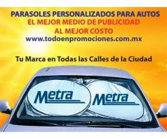 PARASOLES PUBLICITARIOS PERSONALIZADOS PARA AUTO