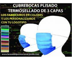 CUBREBOCAS PERSONALIZADOS TERMOSELLADOS DE COLORES