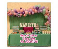 Mesas de dulces perfectas para tus eventos