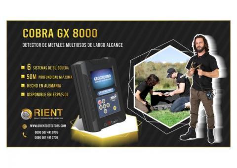 Detector de metales versátil COBRA GX 8000 para cazadores de tesoros