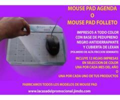 CALENDARIOS EN FORMA DE MOUSE PAD