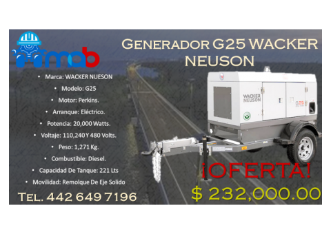 Generador Wacker Neuson OFERTA