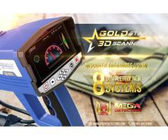 3D Gold Star Scanner - Detector de metales profesional para cazadores de tesoros / Nuevo 2020