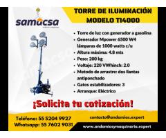 Torre de iluminación a gasolina TI4000