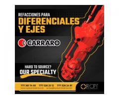 Diferenciales y ejes Carraro para grúas y maquinaria