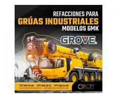 Refacciones para grúas industriales Grove GMK