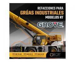 Refacciones para grúas industriales Grove modelos RT