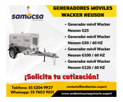 Generador móvil Wacker G100 / 60 HZ