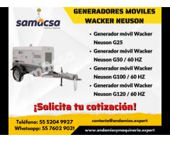 Generador móvil Wacker Neuson modelo G50 / 60 HZ