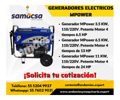 Generador mpower de 6500 w samacsa