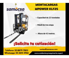 Montacargas 2.5 ton mpower