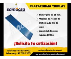 Plataforma (tablón) triplay samacsa