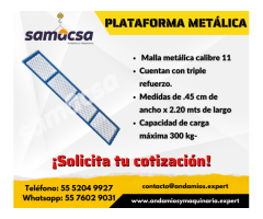 Plataforma de malla metálica samacsa