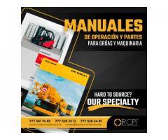 MANUALES DE PARTES PARA GRÚAS INDUSTRIALES Y MAQUINARIA