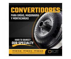 CONVERTIDORES PARA GRÚAS, MAQUINARIA Y MONTACARGAS
