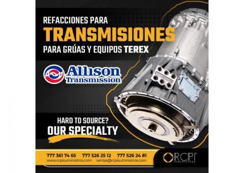 TRANSMISIONES ALLISON PARA GRÚAS TEREX