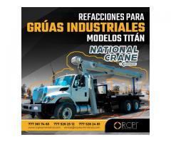 REFACCIONES PARA GRÚAS INUDSTRIALES NATIONAL CRANE