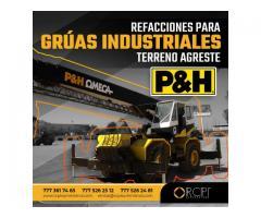 REFACCIONES PARA GRÚAS INDUSTRIALES P&H OMEGA