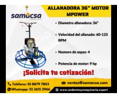 Allanadora motor mpower de 36