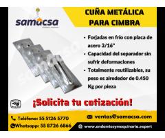 Cuña o panocha metálica para separadores de cimbra