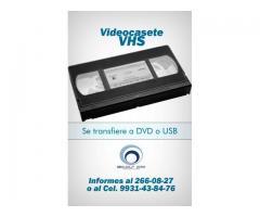 Transferencias de VHS, BETAMAX , MINI DV, Y 8MM A DVD O USB