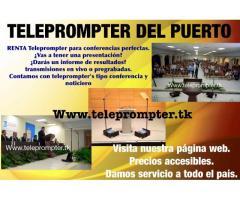 teleprompter en renta todo mexico