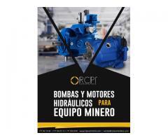 Bombas y motores hidráulicos para equipo minero