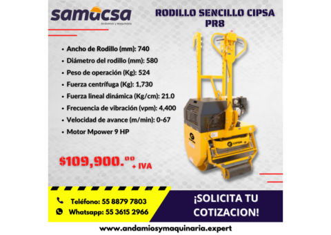 Rodillo sencillo Cipsa