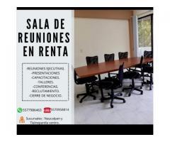 SALAS DE JUNTAS EN TLALNEPANTLA Y NAUCALPAN POR HORA