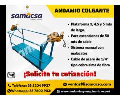 Samacsa Andamio colgante de 4.5 mts