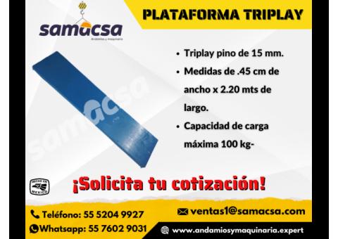 Plataforma triplay para andamio samacsa