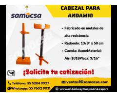 Cabezal regulable para andamio Samacsa