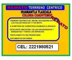 SE VENDE TERRENO CÉNTRICO HUMANTLA- COLONIA CUAUTHEMOC