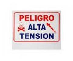 Letrero De Señalización De Advertencia Para Cerco Eléctrico